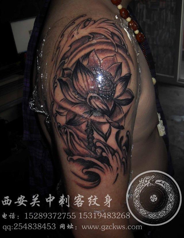 荷花纹身-西安纹身店
