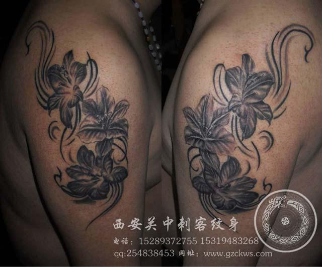 素花纹身手稿素材分享展示