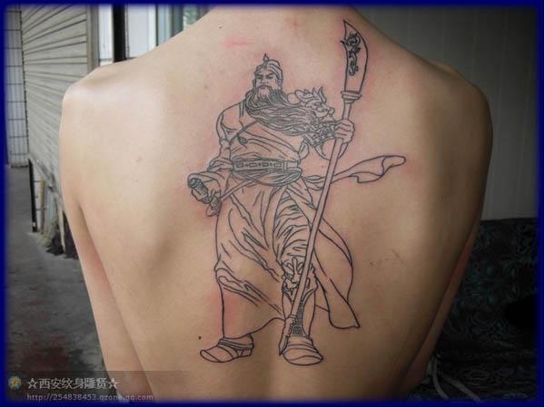 关公割线纹身